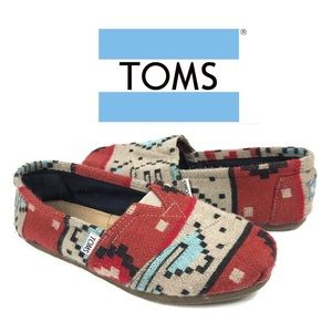 Toms Tribal Knit Classic Shoes Sz 8